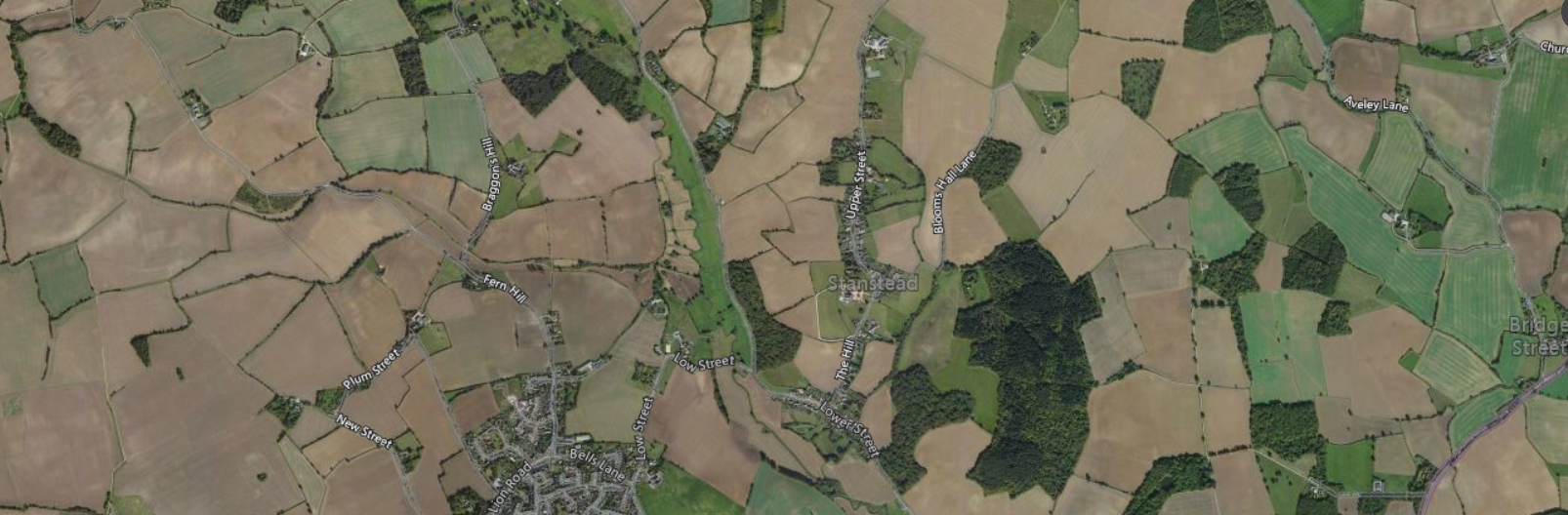 Application success for the outline planning of four dwellings in the district of Babergh