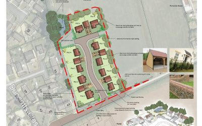 Ashill.  8 dwellings secured planning permission outside of the settlement boundary.