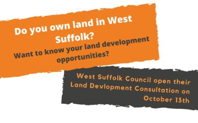 West Suffolk Council open their Land Development Consultation on October 13th